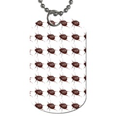 Insect Pattern Dog Tag (two Sides) by Nexatart