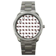Insect Pattern Sport Metal Watch by Nexatart
