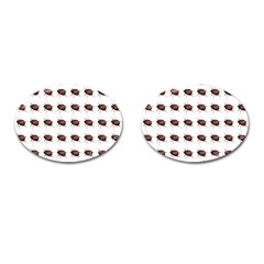 Insect Pattern Cufflinks (oval) by Nexatart