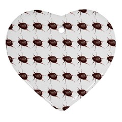 Insect Pattern Heart Ornament (two Sides)