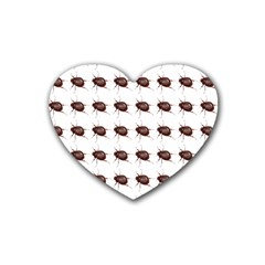 Insect Pattern Heart Coaster (4 Pack)  by Nexatart