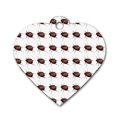 Insect Pattern Dog Tag Heart (one Side)