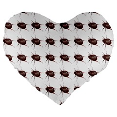 Insect Pattern Large 19  Premium Heart Shape Cushions by Nexatart
