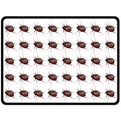 Insect Pattern Double Sided Fleece Blanket (large)  by Nexatart