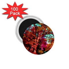 Abstract Fall Trees Saturated With Orange Pink And Turquoise 1 75  Magnets (100 Pack)  by Nexatart