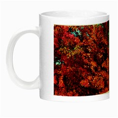 Abstract Fall Trees Saturated With Orange Pink And Turquoise Night Luminous Mugs by Nexatart