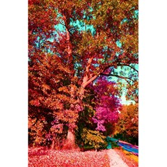 Abstract Fall Trees Saturated With Orange Pink And Turquoise 5 5  X 8 5  Notebooks