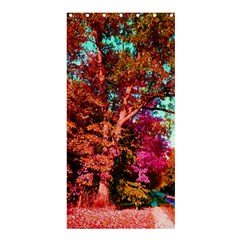 Abstract Fall Trees Saturated With Orange Pink And Turquoise Shower Curtain 36  X 72  (stall)