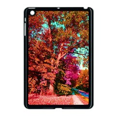 Abstract Fall Trees Saturated With Orange Pink And Turquoise Apple Ipad Mini Case (black) by Nexatart