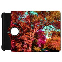 Abstract Fall Trees Saturated With Orange Pink And Turquoise Kindle Fire Hd 7  by Nexatart