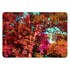 Abstract Fall Trees Saturated With Orange Pink And Turquoise Samsung Galaxy Tab 8 9  P7300 Flip Case by Nexatart