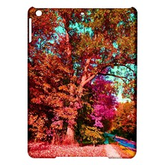Abstract Fall Trees Saturated With Orange Pink And Turquoise Ipad Air Hardshell Cases by Nexatart