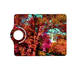 Abstract Fall Trees Saturated With Orange Pink And Turquoise Kindle Fire Hd (2013) Flip 360 Case by Nexatart