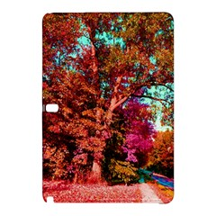 Abstract Fall Trees Saturated With Orange Pink And Turquoise Samsung Galaxy Tab Pro 10 1 Hardshell Case by Nexatart