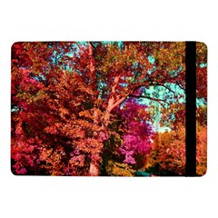 Abstract Fall Trees Saturated With Orange Pink And Turquoise Samsung Galaxy Tab Pro 10 1  Flip Case by Nexatart