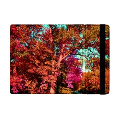 Abstract Fall Trees Saturated With Orange Pink And Turquoise Ipad Mini 2 Flip Cases