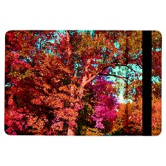 Abstract Fall Trees Saturated With Orange Pink And Turquoise Ipad Air Flip