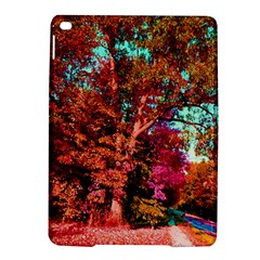 Abstract Fall Trees Saturated With Orange Pink And Turquoise Ipad Air 2 Hardshell Cases by Nexatart