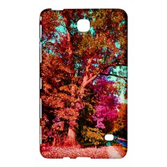 Abstract Fall Trees Saturated With Orange Pink And Turquoise Samsung Galaxy Tab 4 (8 ) Hardshell Case  by Nexatart