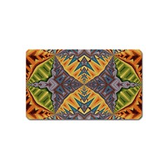 Kaleidoscopic Pattern Colorful Kaleidoscopic Pattern With Fabric Texture Magnet (name Card)