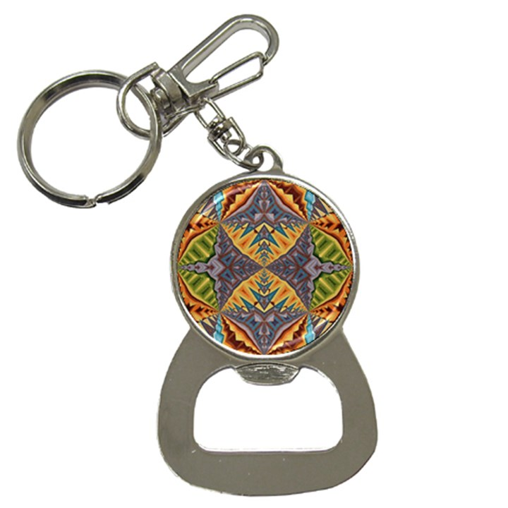 Kaleidoscopic Pattern Colorful Kaleidoscopic Pattern With Fabric Texture Button Necklaces