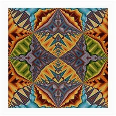 Kaleidoscopic Pattern Colorful Kaleidoscopic Pattern With Fabric Texture Medium Glasses Cloth by Nexatart