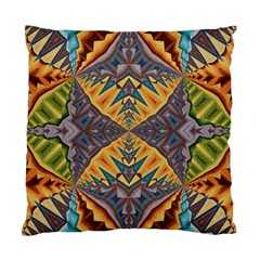 Kaleidoscopic Pattern Colorful Kaleidoscopic Pattern With Fabric Texture Standard Cushion Case (two Sides) by Nexatart