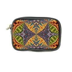 Kaleidoscopic Pattern Colorful Kaleidoscopic Pattern With Fabric Texture Coin Purse