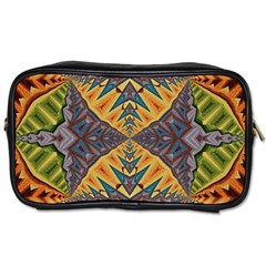 Kaleidoscopic Pattern Colorful Kaleidoscopic Pattern With Fabric Texture Toiletries Bags 2 Side by Nexatart