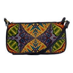 Kaleidoscopic Pattern Colorful Kaleidoscopic Pattern With Fabric Texture Shoulder Clutch Bags by Nexatart