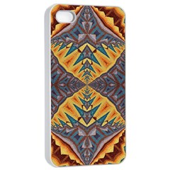 Kaleidoscopic Pattern Colorful Kaleidoscopic Pattern With Fabric Texture Apple Iphone 4/4s Seamless Case (white)