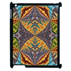 Kaleidoscopic Pattern Colorful Kaleidoscopic Pattern With Fabric Texture Apple Ipad 2 Case (black)