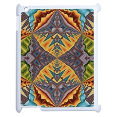 Kaleidoscopic Pattern Colorful Kaleidoscopic Pattern With Fabric Texture Apple Ipad 2 Case (white) by Nexatart