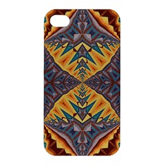 Kaleidoscopic Pattern Colorful Kaleidoscopic Pattern With Fabric Texture Apple Iphone 4/4s Premium Hardshell Case by Nexatart