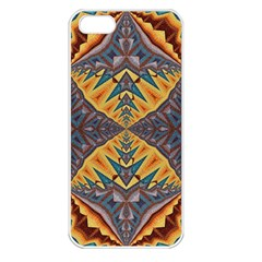 Kaleidoscopic Pattern Colorful Kaleidoscopic Pattern With Fabric Texture Apple Iphone 5 Seamless Case (white)