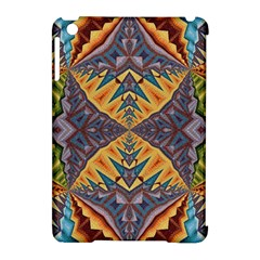Kaleidoscopic Pattern Colorful Kaleidoscopic Pattern With Fabric Texture Apple Ipad Mini Hardshell Case (compatible With Smart Cover) by Nexatart