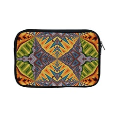 Kaleidoscopic Pattern Colorful Kaleidoscopic Pattern With Fabric Texture Apple Ipad Mini Zipper Cases by Nexatart