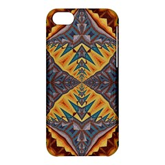 Kaleidoscopic Pattern Colorful Kaleidoscopic Pattern With Fabric Texture Apple Iphone 5c Hardshell Case by Nexatart