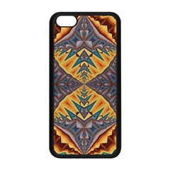 Kaleidoscopic Pattern Colorful Kaleidoscopic Pattern With Fabric Texture Apple Iphone 5c Seamless Case (black)