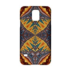 Kaleidoscopic Pattern Colorful Kaleidoscopic Pattern With Fabric Texture Samsung Galaxy S5 Hardshell Case