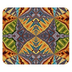 Kaleidoscopic Pattern Colorful Kaleidoscopic Pattern With Fabric Texture Double Sided Flano Blanket (small)  by Nexatart
