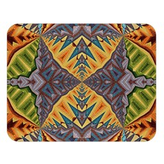Kaleidoscopic Pattern Colorful Kaleidoscopic Pattern With Fabric Texture Double Sided Flano Blanket (large)  by Nexatart