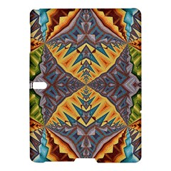 Kaleidoscopic Pattern Colorful Kaleidoscopic Pattern With Fabric Texture Samsung Galaxy Tab S (10 5 ) Hardshell Case  by Nexatart
