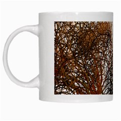 Digitally Painted Colourful Winter Branches Illustration White Mugs by Nexatart
