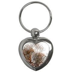 Digitally Painted Colourful Winter Branches Illustration Key Chains (heart)  by Nexatart