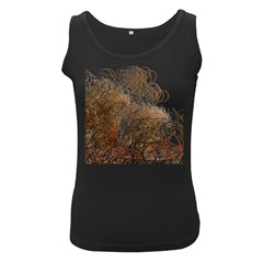 Digitally Painted Colourful Winter Branches Illustration Women s Black Tank Top by Nexatart