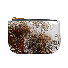 Digitally Painted Colourful Winter Branches Illustration Mini Coin Purses