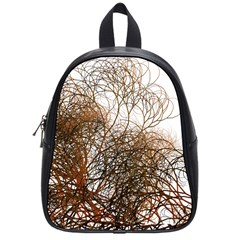 Digitally Painted Colourful Winter Branches Illustration School Bags (small)  by Nexatart