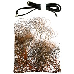 Digitally Painted Colourful Winter Branches Illustration Shoulder Sling Bags by Nexatart
