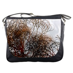 Digitally Painted Colourful Winter Branches Illustration Messenger Bags by Nexatart